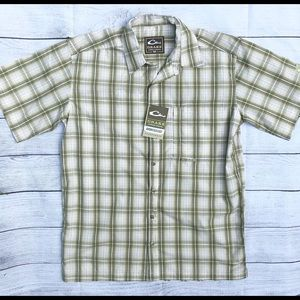*NWT* Drake Green Plaid Men's Shirt-Small